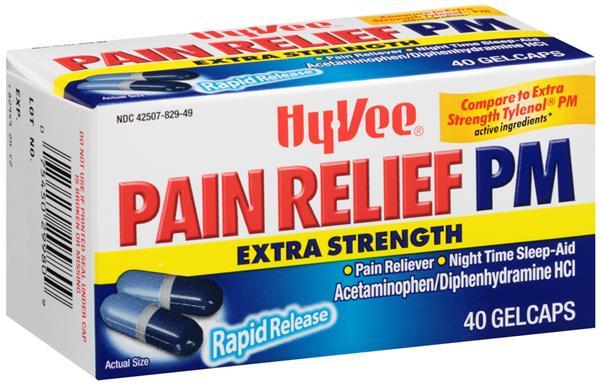 Diphenhydramine & Acetaminophen (Hy-Vee)