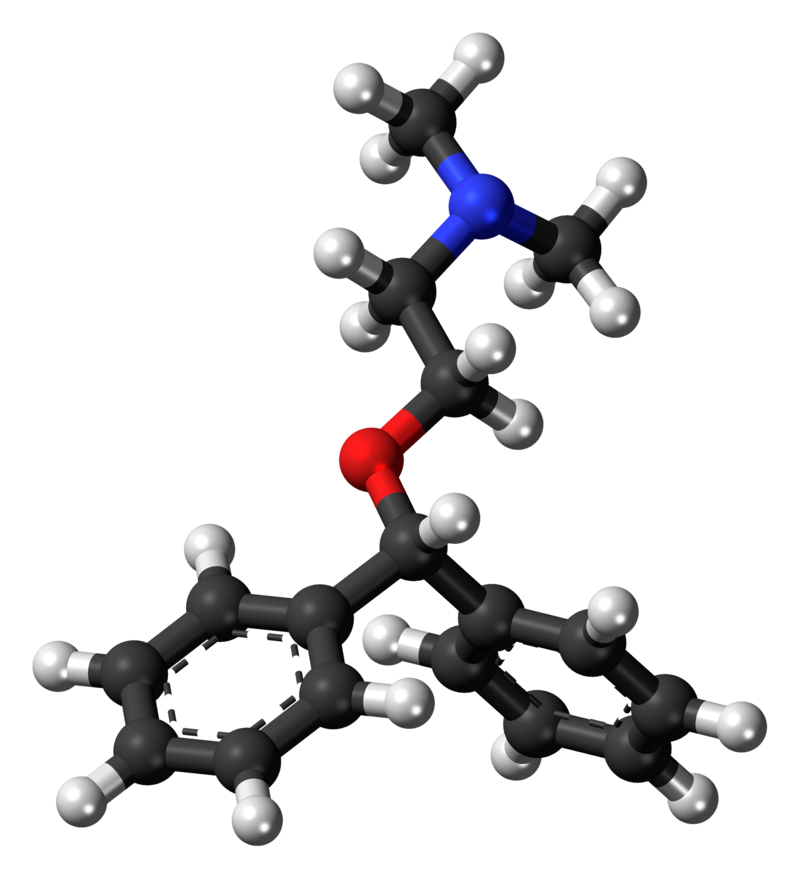 Diphenhydramine Structure