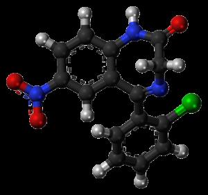 Clonazepam Structure