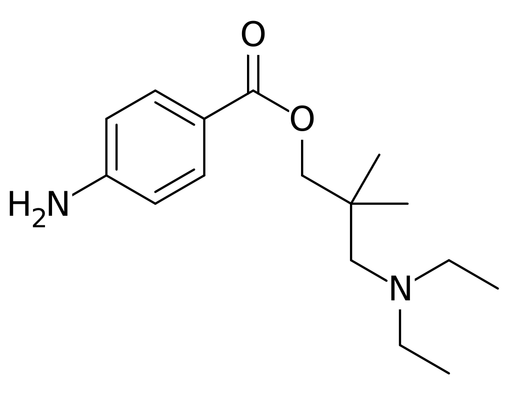 Dimethocaine Structure