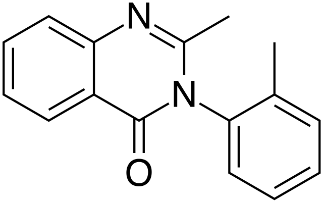 Methaqualone structure