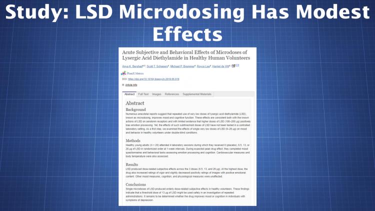 LSD microdosing study